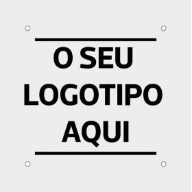 Placa 20*20 com logótipo | placas identificativas em acrilico