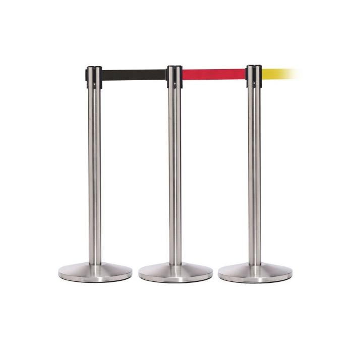 postes delimitadores de filas|poste com fita retratil|baias separadoras|fita separadora de fila|fitas separadoras| poste separad