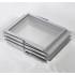 Porta folhetos  alumínio 6 bandejas Z de acrílico| porta catálogos