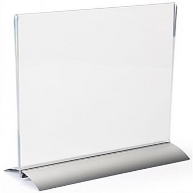 Porta Menu com Base em Alumínio A4 Vertical_EstudioPlast