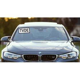 Placa TVDE | Distico TVDE  (Pack com 2 unidades) em vinil Electrolítico reposicionavel