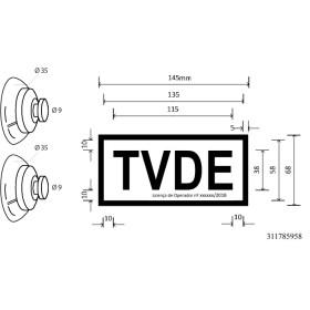 Placa TVDE | Distico TVDE  (Pack com 2 unidades)