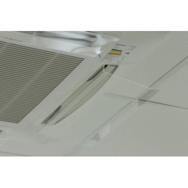 PACK 4 deflector de ar condicionado de tecto ou ar-condicionado multisplit cassete 4 vias de teto.