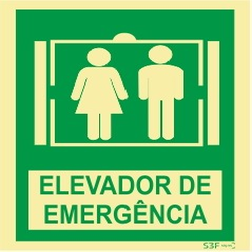 Sinal de Elevador de Emergência