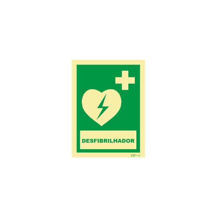 Sinal de DAE / AED (desfibrilhador)