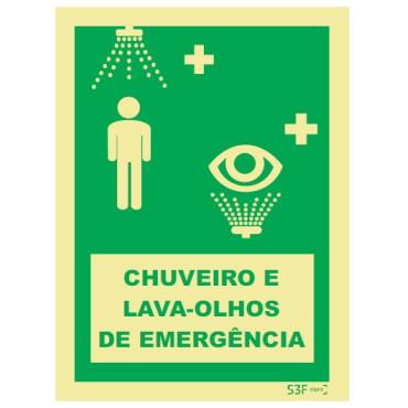 Chuveiro de Emergência e Lava olhos