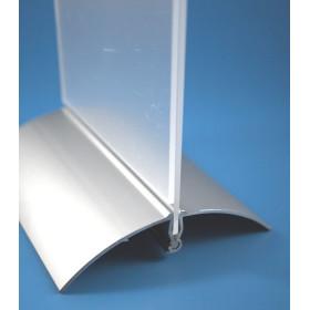 Porta Menu com Base em Alumínio A4 Vertical|Porta Menu , ementas , cartas de vinho |expositores Acrílicos A4 |Ementas para resta