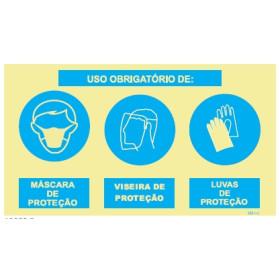 Uso Obrigatório de Luvas e Mascara ou Viseira