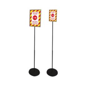 Poste de Orientação A4 |postes de comunicação a4 | porta cartaz | porta cartaz de chao | Expositor para Posters