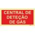 Sinal de central de deteção de gás