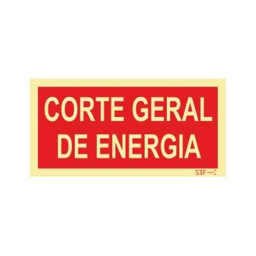 Sinal de corte Geral de Energia