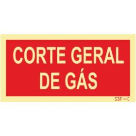 Sinal de corte Geral de Gaz