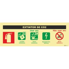 Sinal de agente extintor de CO2