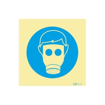 Sinal de obrigação, máscara de proteção