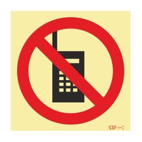 Sinal de proibição, uso de telemóvel