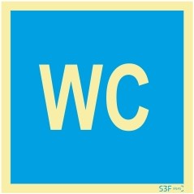 Sinalética Fotoluminescente|Sinalética |Sinalização Segurança|Sinal Informação |Sinal de informação, instalações sanitárias WC