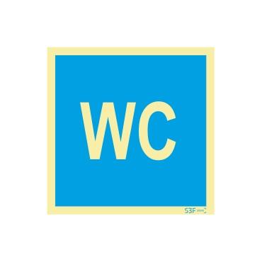 Sinal de informação, instalações sanitárias WC