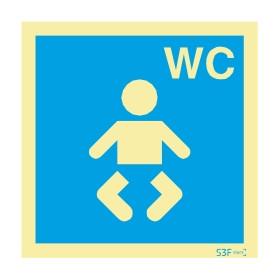 Sinalética Fotoluminescente|Sinalética |Sinalização |Sinal Informação |Sinal de informação, instalações sanitárias WC para bebés