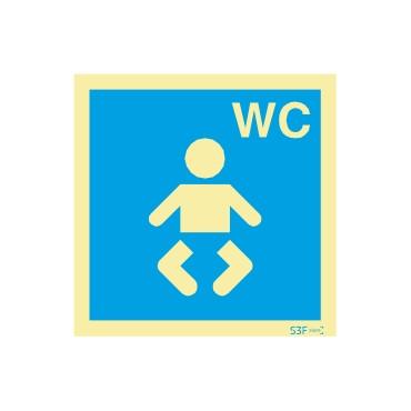 Sinal de informação, instalações sanitárias WC para bebés