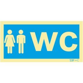 Sinal de informação, instalações sanitárias WC misto