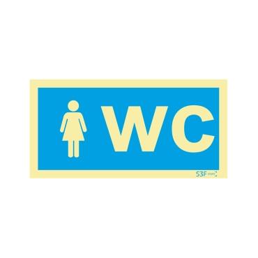 Sinal de informação, instalações sanitárias WC feminino