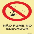 Sinal para condomínios, Não fume no elevador
