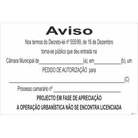 Sinal para estaleiros, Aviso DL 555/99 , Pedido de autorização