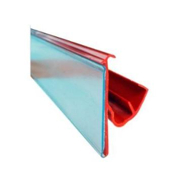 Perfil porta preços branco para prateleira  39 * 1320 mm