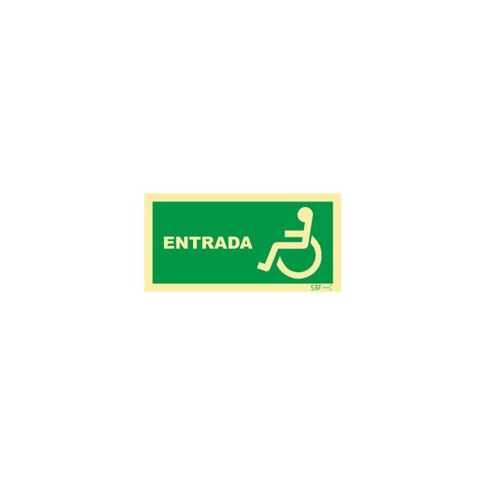 Sinal de Entrada para pessoas com deficiência ou mobilidade reduzida