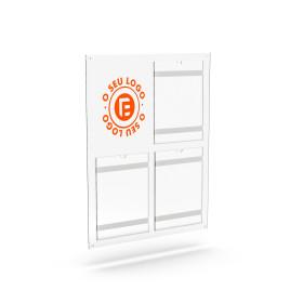 placa|comunicação|informação|bolsa|acrílico| placa de comunicação A4 |Placas de Publicidade para lojas|placar de comunicação |ex