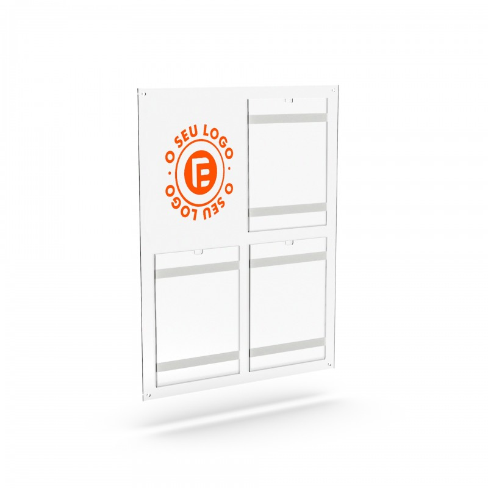 placa comunicação informação bolsa acrílico  placa de comunicação A4  Placas de Publicidade para lojas placar de comunicação  ex
