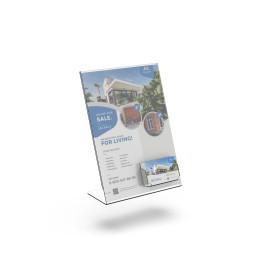 Bolsa A4 acrílico|Porta preços em acrílico|Painel acrilico a4|porta menu com cartões de visita|Suportes em acrilico|Expositores