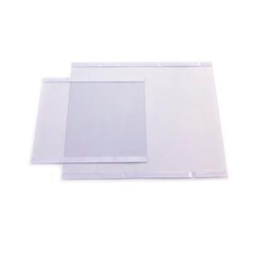 Bolsa vertical c/ bi-adesivo Transparente Reutilizável Horizontal