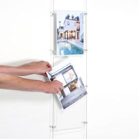 montras  imobiliarias|expositores para imobiliarias|Acrílico suspenso Montras, Sistemas cabo, Para Imobiliárias |acrilicos agenc