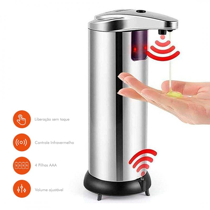 Dispensador Automático de Álcool gel para gestores de Fila
