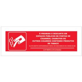 Sinalética Fotoluminescente|Segurança|Sinal para fumadores, Deposite aqui a ponta do seu cigarro|Sinal para fumadores, Deposite