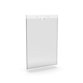 Bolsa em acrilico com aba superior | Moldura A4 vertical