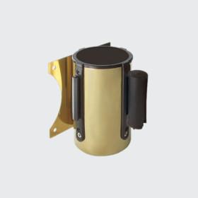 Cinta de parede aço Dourado / Barreira preta Catálogo/gestor de filas