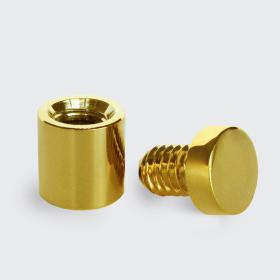 Afastadores - aço ouro polido