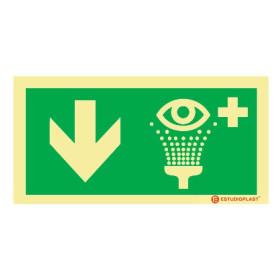Sinalética Fotoluminescente|Saída de Emergência|Sinalização Segurança| Sinal de Lava-olhos de emergênciaem baixo