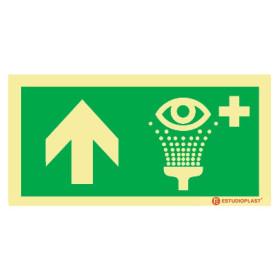 Sinalética Fotoluminescente|Saída de Emergência|Sinalização Segurança| Sinal de Lava-olhos de emergência à frente
