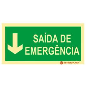 Sinalética Fotoluminescente|Saída de Emergência|Sinalização Segurança|Sinal de Saída de emergência baixo