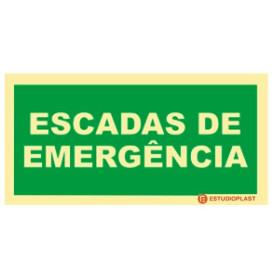 Sinalética Fotoluminescente|Saída de Emergência|Sinalização Segurança|  Sinal de Escadas e Emergência