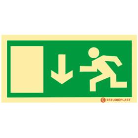 Sinalética Fotoluminescente|Saída de Emergência|Sinalização Segurança|Sinal de evacuação, porta de saída