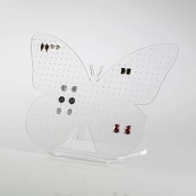 Expositor de Brinços em forma de borboleta  transparente