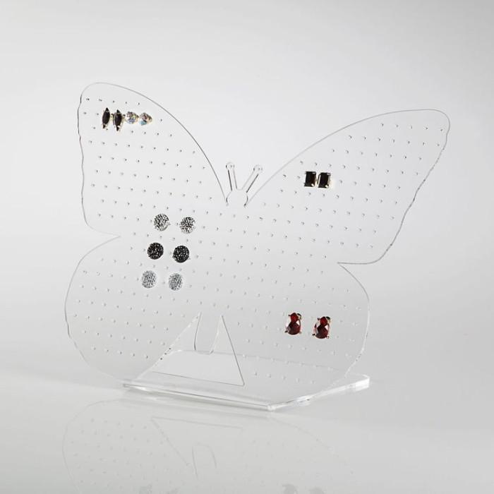 Expositor de brincos em forma de borboleta  transparente