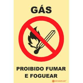 Sinalética Fotoluminescente|Saída de Emergência|Sinalização proibição | Sinal de Gás Proibido Fumar e Foguear