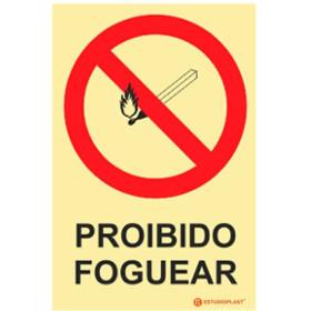 Sinalética Fotoluminescente|Saída de Emergência|Sinalização proibição | Sinal de Proibido Foguear