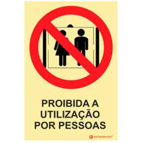 Sinalética Fotoluminescente|Saída de Emergência|Sinalização proibição | Proibido a utilização por pessoas