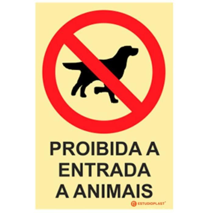 Sinalética Fotoluminescente|Saída de Emergência|Sinalização proibição |  Passagem Proibida a entrada a animais